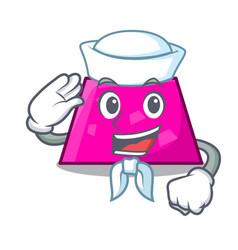 sailor trapezoid character cartoon style vector image