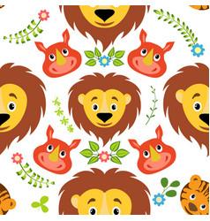 seamless childish pattern vector image