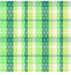 seamless plaid dots texture vector image