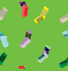 seamless socks pattern vector image