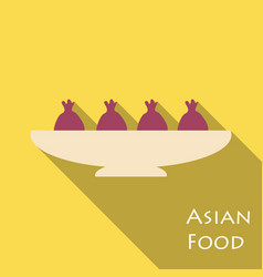 set of asian food bibimbap gedza ramen and sushi vector image