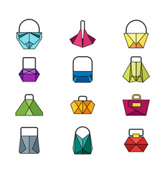 set of color bag vector image