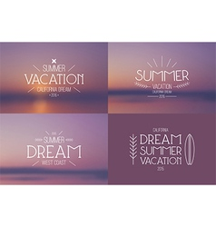 Set summer vacation badges vector
