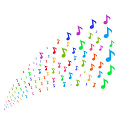 Source stream of musical note vector