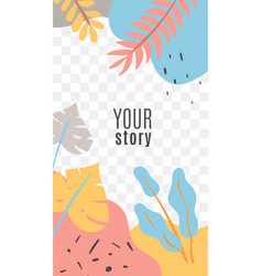 Stories floral social media cover social networks vector