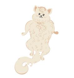 Stylized white cat design vector