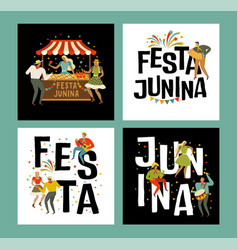 tent festa junina brazilian apple candy june vector image