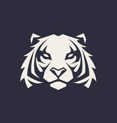 tiger mascot icon vector image