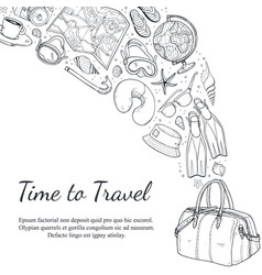 travel time poster vector image