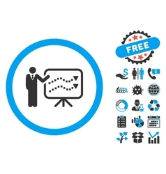 Trends Lecture Flat Icon with Bonus vector