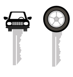 Two Car Keys Isolated vector image
