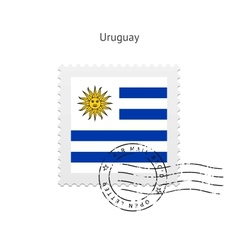 Uruguay Flag Postage Stamp vector