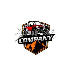 utv 4x4 logo vector image