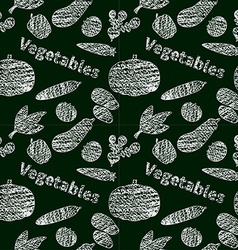 Vegetable chalk style background vector