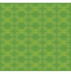 Vitage green flourish pattern vector