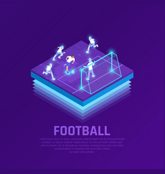 vr soccer isometric composition vector image