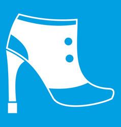 Women boots icon white vector