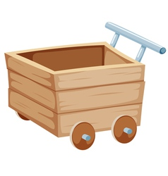 Wood trolley vector
