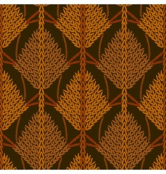 Colored knitted openwork background pattern vector image