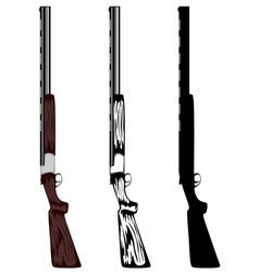 huntings rifle vector image vector image