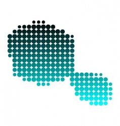 map of Tahiti vector image vector image