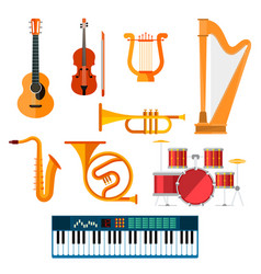 musical wind key or string instruments vector image vector image