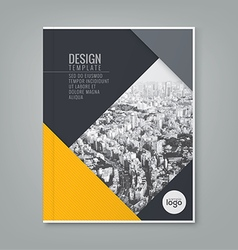 annual report book cover brochure flyer design vector image vector image