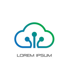 business cloud technology logo vector image