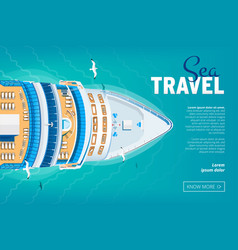 cruise liner travel banner vector image vector image