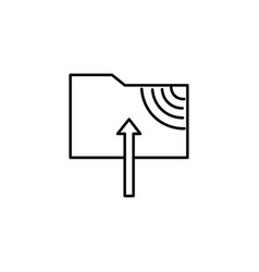 ftp upload icon vector image vector image