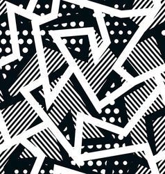 monochrome cloth seamless pattern vector image