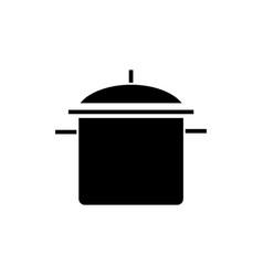 pot big icon black sign on vector image