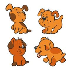 Puppies vector image