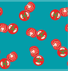 seamless tomato pattern for fruit background vector image vector image