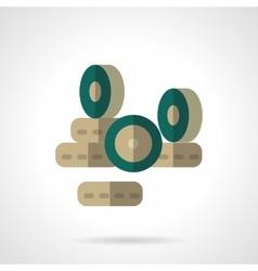 Wheels store flat color design icon vector image vector image
