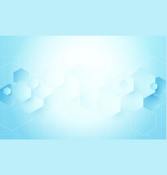 abstract geometric hexagons shape science concept vector image vector image