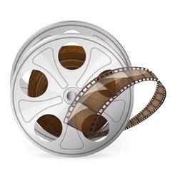 Reel of movie tape vector image