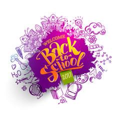 back to school sale splash backdrop vector image vector image