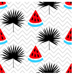 beautiful seamless pattern on zig zag background vector image vector image