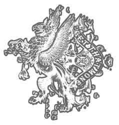 griffin eagle crest emblem vector image vector image