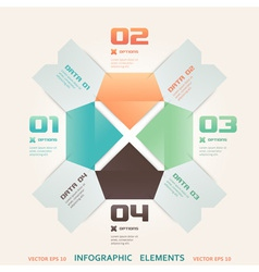 Modern Origami Style Number Options Infographic vector image vector image