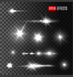 stars shine light isolated icons vector image