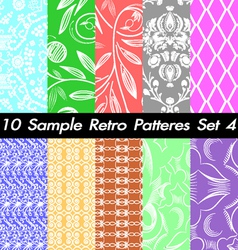 10 Retro Patterns Textures Set 4 vector