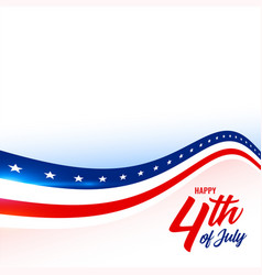 4th july american flag style background vector image