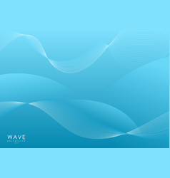 abstract blue smooth wave vector image
