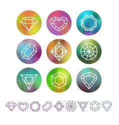 abstract crystal monograms vector image