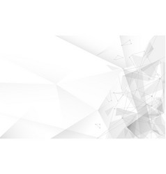 abstract white tine polygonal with connected vector image