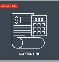 accounting icon vector image