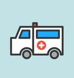 ambulance car hospital related icon vector image