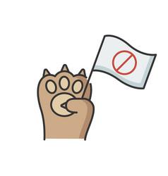 Animal rights rgb color icon vector